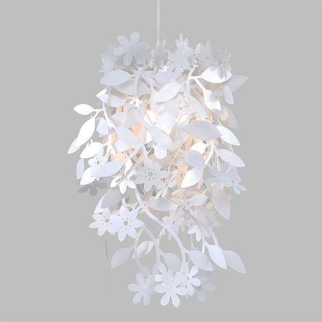 White Floral Pendant