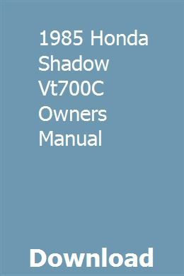 1985 Honda Shadow Vt700c Owners Manual Repair Manuals Honda Shadow Ford Transit