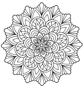 Medium Difficulty Coloring Pages