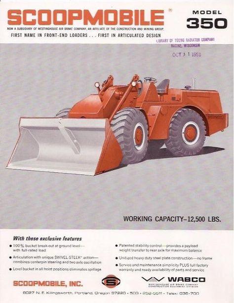 Scoopmobile 350 | Old tractors, Heavy equipment, Tractors