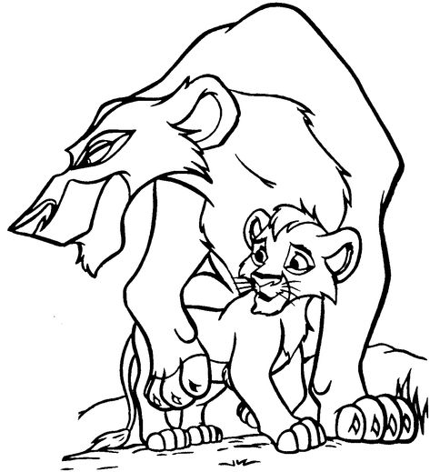 Lion King Coloring Page Lion Coloring Pages Lion King Drawings
