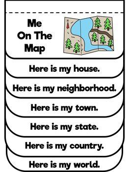 Me on the map | Classroom | Kindergarten social studies