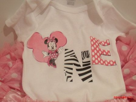 Minnie Mouse Onesie For 1 Year Old Birthday Baby By AnaDesigns333 1200