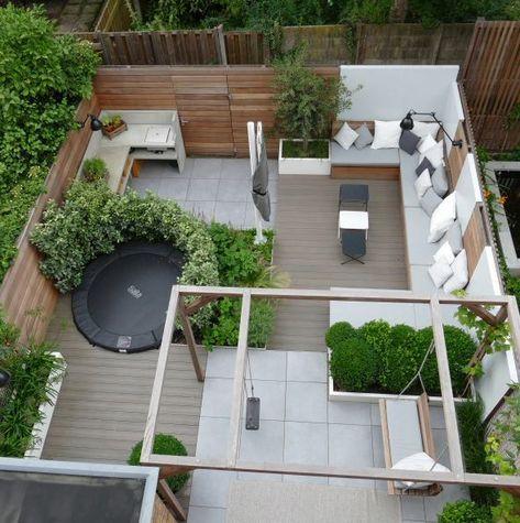 Verbazingwekkend Praktisch ingedeelde tuin. Pergola met schommelbank en schommel CU-61