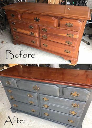 Diy Refinished Dresser Using Annie