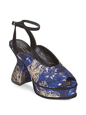 free shipping e258c 32911 Dries Van Noten Brocade Platform Sandals | SCARPE | Shoes ...
