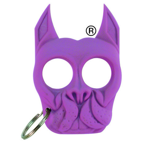 Brutus Bulldog Self Defense Keychain Knuckle Weapon Purple Self