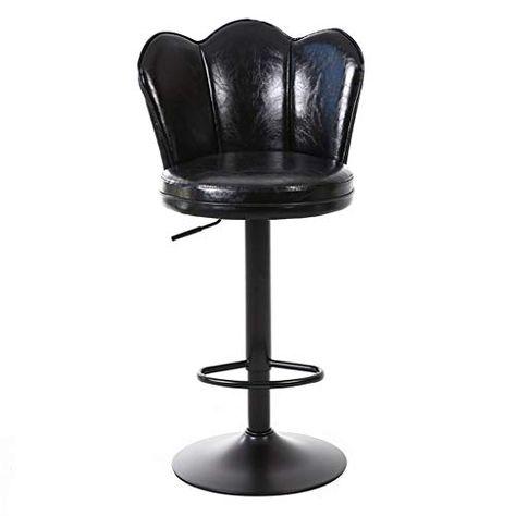 PU Leather 360° Swivel Barstool Adjustable Breakfast Bar Stool Kitchen Pub Chair