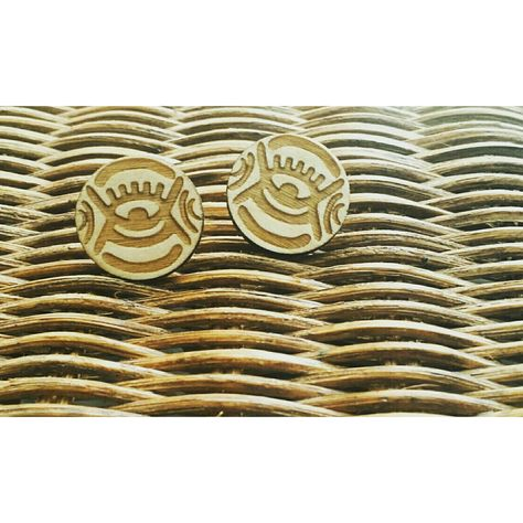 "Adinkra God's eye studs 10 USD means:  ""god's eye"" omnipresence of god in west African/ Adinkra."