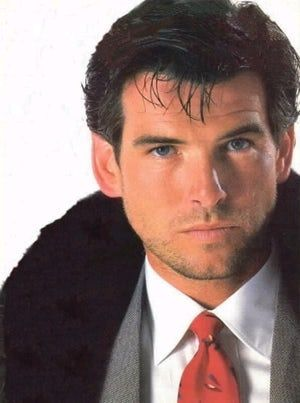Young Pierce Brosnan In Black Is Listed Or Ranked 23 On