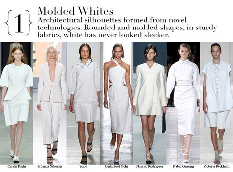 New York Spring 2014 Top Trends - Molded Whites