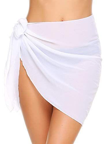 Womens Triangle Leopard Bikini with Sarong Set Chiffon Swimsuit Wrap Skirt 3 Piece Swimwear