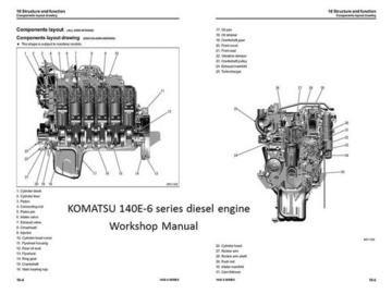 2011 KOMATSU 140E-5 Series Diesel Engine Workshop Service