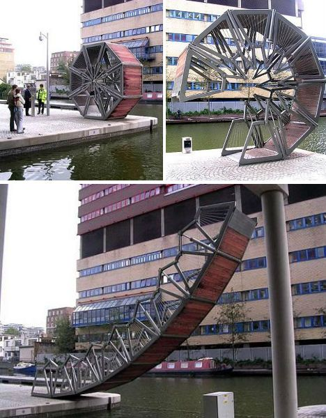 Rolling Bridge by Thomas Heatherwick Temporary, Movable and Mobile Structures