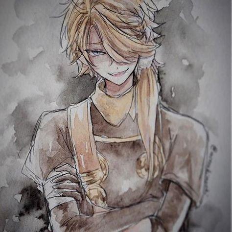 ゲス顔獅子王  #draw#drawing #anime#illustagarm #watercolor #toukenranbu #tourabu#水彩紙 #透明水彩 #水彩 #刀剣乱舞 #獅子王#太刀#刀#ゲス顔#とうらぶ