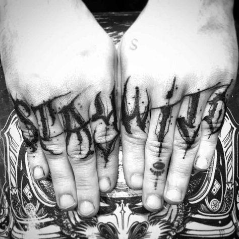 Tattoos On The Fingers - Tattoo - #fingers #Tattoo #Tattoos