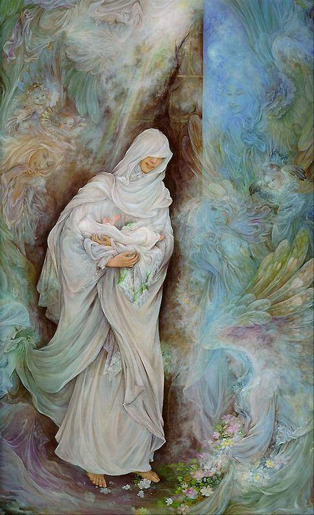 تصاویری از نقاشیهای استاد فرشچیان
