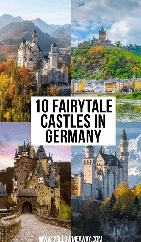 10 Fairytale Castles In Germany | where to go in Germany | beautiful locations in Germany | instagram photo locations in Germany | whimsical castles in Germany | fairytale castles in Germany | places to go in Germany | planning you Germany trip | traveling Germany like a pro | what to do in Germany #germany #fairytalecastles #castles #traveltips