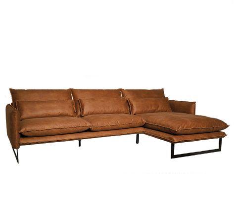Hoekbank Leer Lounge.Lifestyle Milan Lounge Sofa Right Leren Hoekbank Cognac Bruin