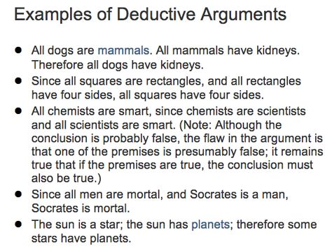 inductive vs. deductive arguments - Google Search | TOK ...