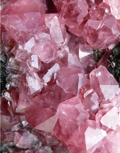 Pink crystals.