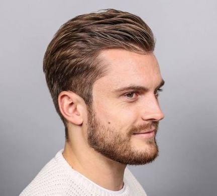 frisyr kille tjockt hår