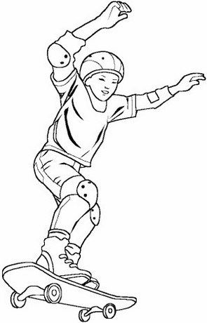 Epic A Boy Riding Skateboard Coloring Page Sports Coloring Pages Coloring Pages Art Drawings Simple