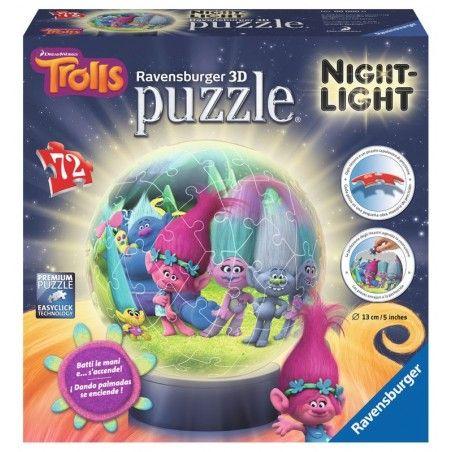 Lampara Puzzle 3d Ravensburger 13cm 72 Piezas De Trolls 35 98