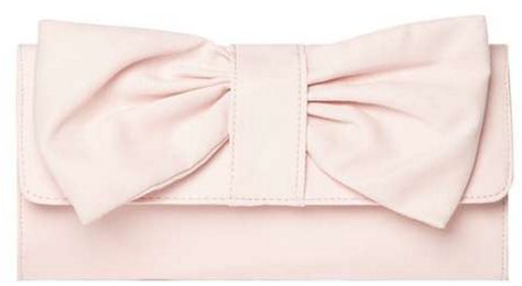 Cute pink bow clutch