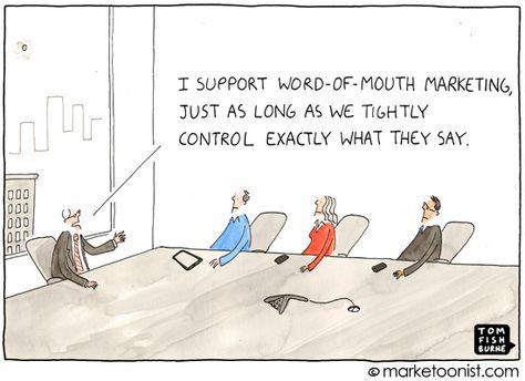 word of mouth marketing cartoon