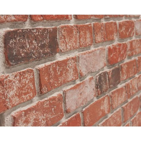 Urestone Old Town 24 In X 46 3 8 In Faux Used Brick Panel 4 Pack Ul2600pk 70 The Home Depot In 2021 Brick Paneling Basement Decor Basement Layout