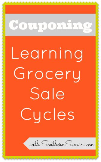 To make the most out of couponing, make sure you know all about the grocery store sale cycles.