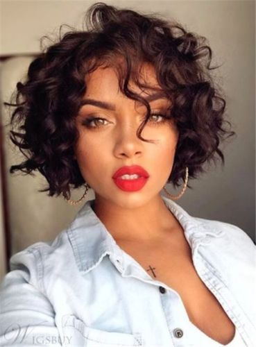 Bob Hairstyle Short Curly Synthetic Hair Capless African American Women Wigs Hair Styles Short Hair Styles Curly Hair Styles Naturally