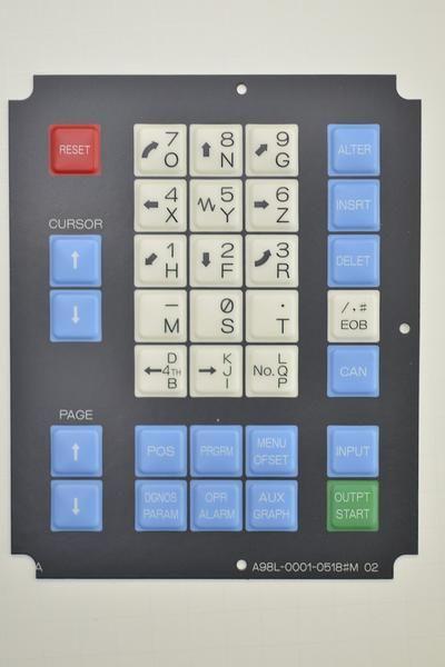 Details about  /FANUC membrane keysheet keypad P//N A98L-0001-0628#E