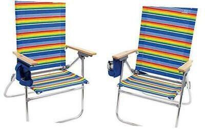 Rio Beach Hi Boy 17 Extended Seat Height Folding Folding Beach Chair Patio Chairs Outdoor Chairs