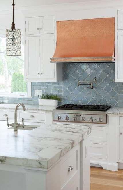 49 Trendy Kitchen Blue Copper Range Hoods Kitchen Kitchen Tiles Backsplash Kitchen Tiles Kitchen Remodel
