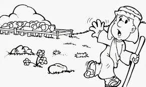 Resultado De Imagem Para O Pastor E O Lobo Para Colorir Dibujos