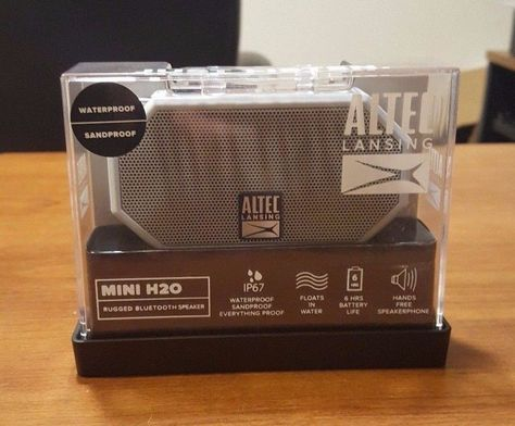 Altec Lansing Mini H20 Rugged Waterproof Bluetooth Speaker Light