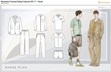 Menswear Designed and direction by : Jason Hall, Volker Ketteniss Layout and technical drawings by WGSN menswear team WGSN menswear Illu.