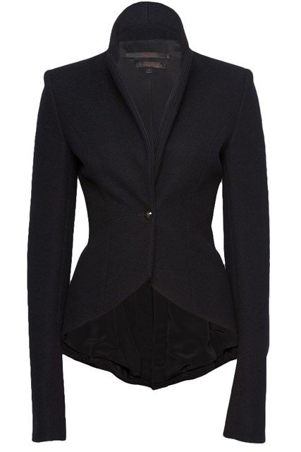 My idea of a perfect black blazer - L'Wren Scott drape fitted jacket