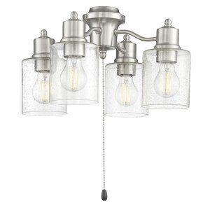 Breakwater Bay 4 Light Universal Ceiling Fan Branched Light Kit Wayfair In 2020 Fan Light Kits Craftmade Fan Light