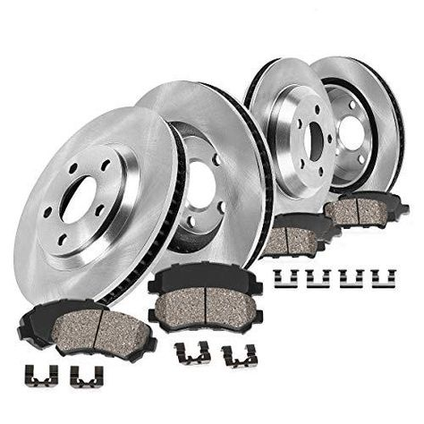 Front /& Rear Drilled And Slotted Brake Rotors For JX35 Qx60 Murano Pathfinder