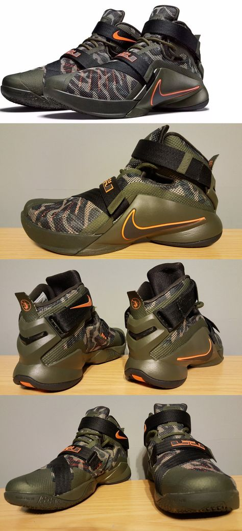 on sale 3cb6d 50fe4 Basketball  New Nike Lebron Soldier Ix 9 Prm Sz 10 Green Black Camo Shoes  Sneakers Premium -  BUY IT NOW ONLY   79.95 on eBay!