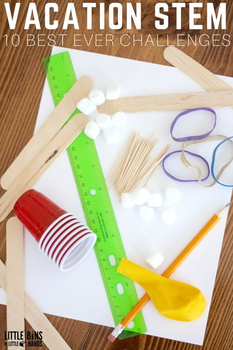 Easy STEM Challenges For Kids!