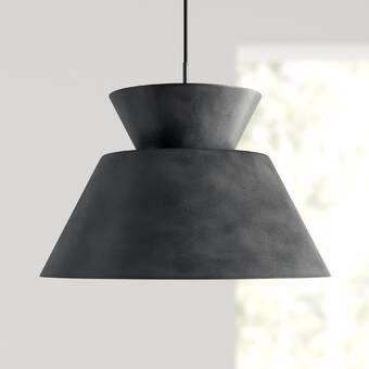 Giselle 1 Light Single Bell Pendant Reviews Allmodern Concrete Pendant Light Pendant Light Contemporary Pendant Lights