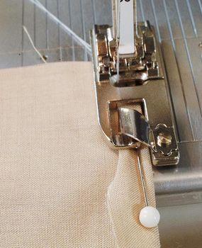 using the hemming foot. Fantastic tutorial