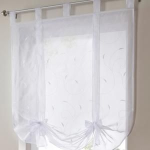 Roman Shade European Embroidery Style Tie Up Window Curtain Kitchen Curtain Voile Sheer Trivoshop Kitchen Curtains Window Brands Window Curtains