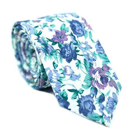 Groomsmen Gift for Groom Mens Skinny Tie Print Polyester Necktie