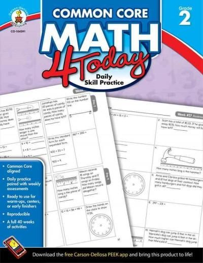 Common Core Math 4 Today, Grade 2: Daily Practice Skills