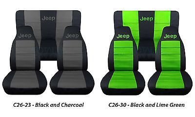 Jeep Wrangler Yj Tj Jk Jl 1987 2020 2 Tone Seat Covers Your Name